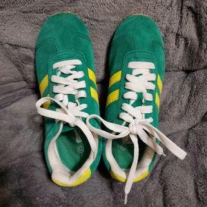 Green Yellow Retro Sneakers